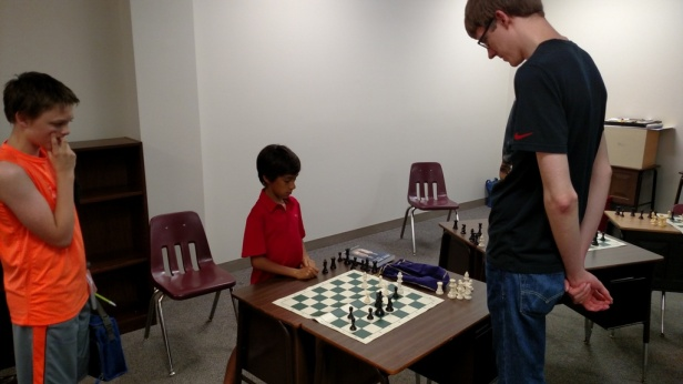 Vijay tries to help Camden in his game against Nathan Klatt